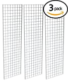 Econoco  Grid Panel for Retail Display – Perfect Metal Grid for Any Retail Display, 2' Width x 7' Height, 3 Grids Per Carton (Chrome)
