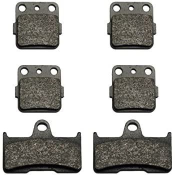 F+R Sintered Brake Pads 2002-2008 2007 2006 2005 Yamaha YFM 660 F Grizzly 660