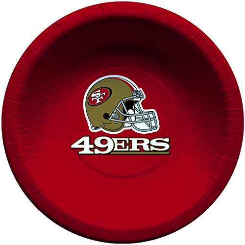 Creative Converting Officially Licensed NFL Paper Bowls, 8-Count, 20-Ounce, San Francisco 49ers ()