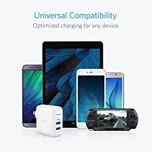 Anker 2-Port 24W USB Wall Charger PowerPort 2 Elite with PowerIQ, Foldable Plug for iPhone 7 / 7 Plus / 6s / 6s Plus, iPad Pro / Air 2 / mini 3 / mini 4, Samsung Note 4, HTC Nexus, and More