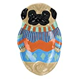 pug spoon rest - Boston Warehouse Earthenware Pugly Sweater Spoon Rest