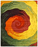 EORC T103MU Hand Tufted Wool Cowabunga Rug, 5 by 8-Feet