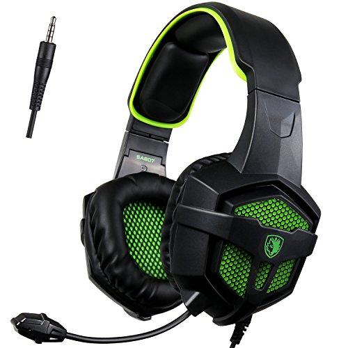 Sades SA807 Gaming Headset for Xbox one PC - Green