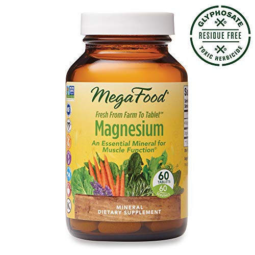 MegaFood, Magnesium, Helps Maintain Nerve and Muscle Function, Essential Mineral Dietary Supplement, Gluten Free, Vegan, 60 Tablets (60 Servings) (FFP)