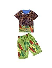 Moana Little Boys 2 Piece Shorts Sets Pjs Pajamas for Maui Clothes