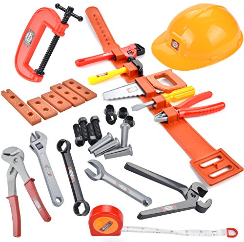 Joyin Toy Complete Tool Belt Toy Set- Great Toys Gift (30 pieces)