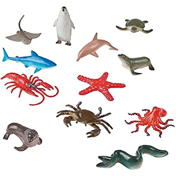 Sea Animal Figures Animal Toys 38pcs Mini Sea Animal Toys Set Realistic Animal S Jade White Action Figures Animals & Dinosaurs