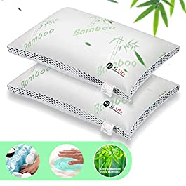 Lv. life Set of 2 Pillows,Comfortable and breathable with Pocket Springs for Neck & Shoulder Pain