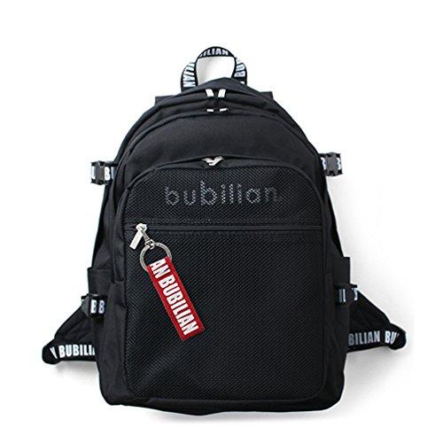 Bubilian BTBB 3D Backpack / Korean Street Brand / School Bag / Travel Bag (Black (red))