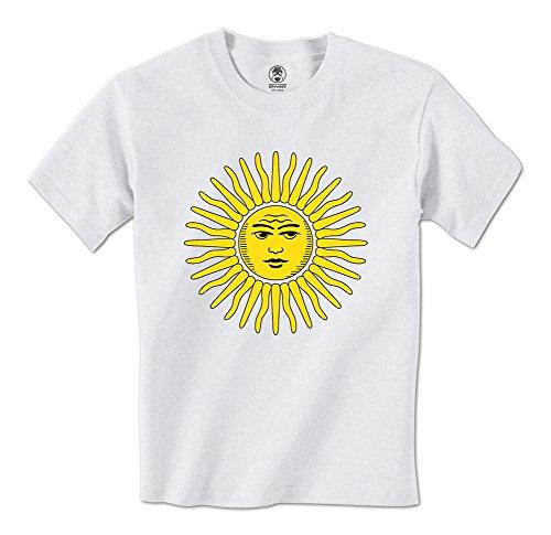 Argentina Sun Of May El Sol De Mayo Symbol Mens T-Shirt (Medium - Argentina Sun