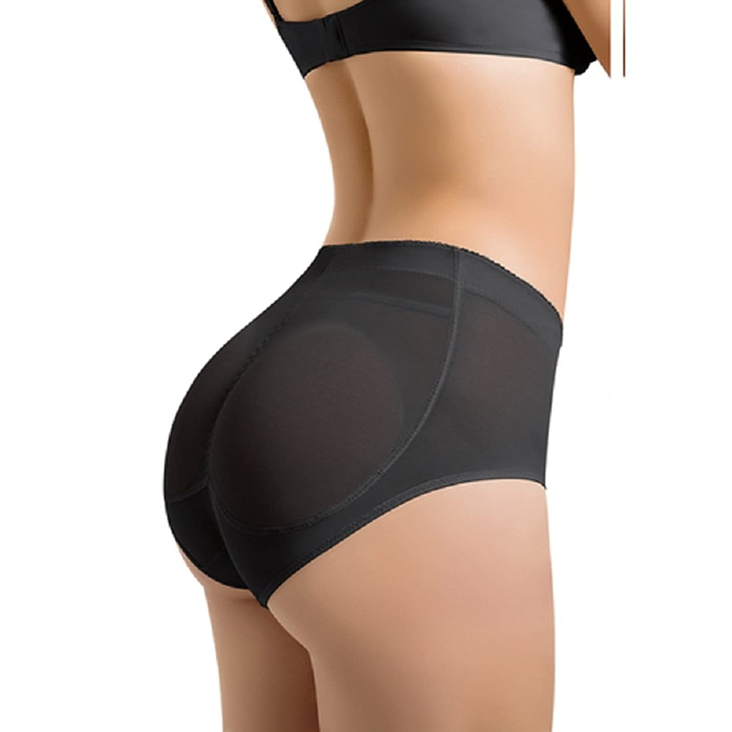 9f462c85aa68 Silicone Insert 2 Pads Shapewear Knickers Buttock Backside Bum Padded Butt  Enhancer Hip Up Underwear Panties at Amazon Women's Clothing store: