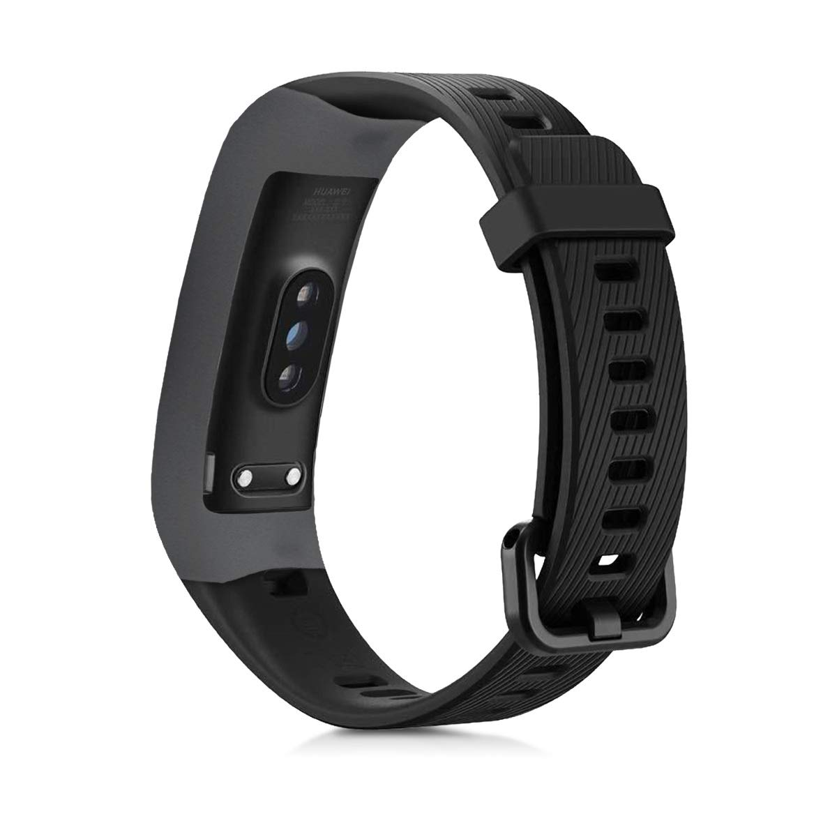 kwmobile 2 Fundas para Huawei Honor Band 3 / Band 3 Pro - Cubierta para Monitor de Actividad de Silicona - Case Negro/Gris