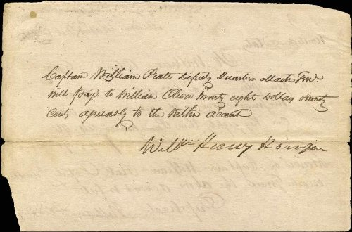 President William Henry Harrison - Manuscript Document Signed 02/18/1813 with co-signers