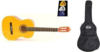 Guitarra clásica 4/4 con Binding marfil aplicado y mecánicas ...