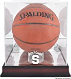 Syracuse Orange Mahogany Antique Finish (2015-Present Logo) Basketball Display Case with Mirror Back - Fanatics Authentic Certified