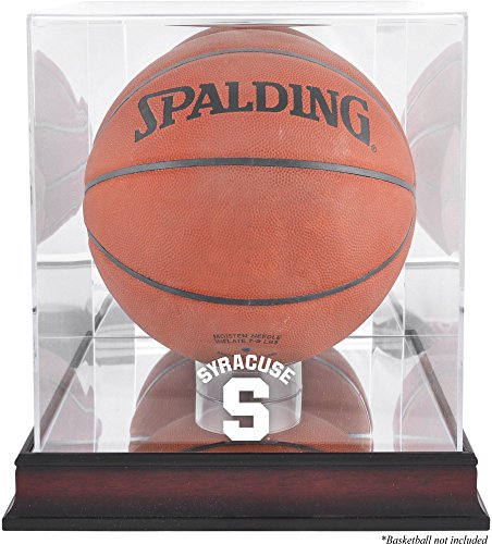 Syracuse Orange Mahogany Antique Finish (2015-Present Logo) Basketball Display Case with Mirror Back - Fanatics Authentic Certified by Sports Memorabilia