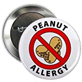 PEANUT ALLERGY Medical Alert 2.25 inch Pinback Button Badge