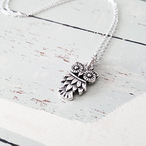 Sterling Silver Owl Charm Necklace product image