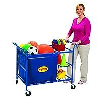 Angeles Ball Cart, Kids/Toddler Indoor/Outdoor Play Equipment for Homeschool/Daycare/Montessori/Preschool, Activity Storage Cart