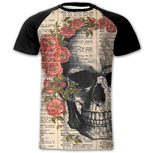 Newfood Ss The Skull is Wearing Beautiful Flowers Men