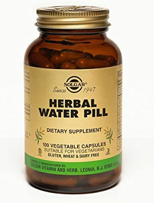 Solgar Natural Herbal Water Pill -- 100 Vegetable Capsules