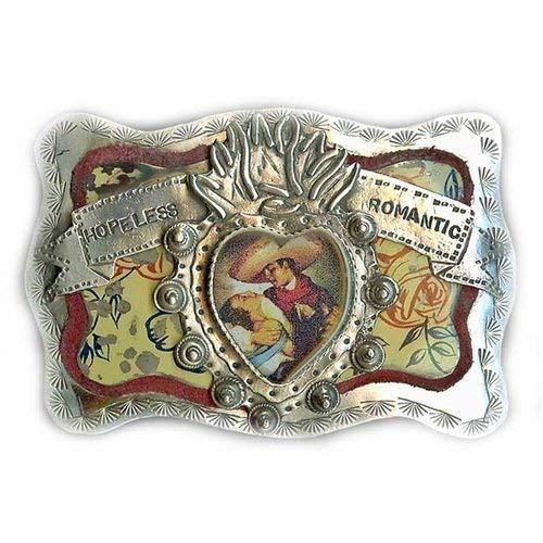 Sweet Bird Studio - Belt Buckle - Sterling Silver - Hopeless -