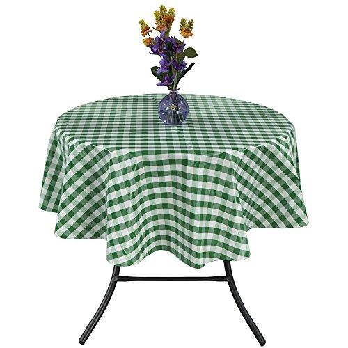 Ottomanson Vinyl Tablecloth Checkered Design Indoor & Outdoor Non-Woven Backing Tablecloth, 55