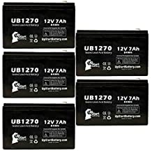 5x Pack - APC BACK-UPS RS 1500VA 230V FRANCE BR1500-FR Battery - Replacement UB1270 Universal Sealed Lead Acid Battery (12V, 7Ah, 7000mAh, F1 Terminal, AGM, SLA) - Includes 10 F1 to F2 Terminal Adapters