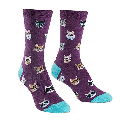 Sock It To Me, Smarty Cat, Women's Crew Socks, Nerdy Cat Socks