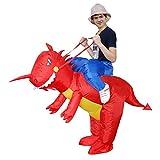 Kooy Inflatable Dinosaur Unicorn Cowboy Costume Halloween Costume Inflatable Costumes for Adults (red Dinosaur)