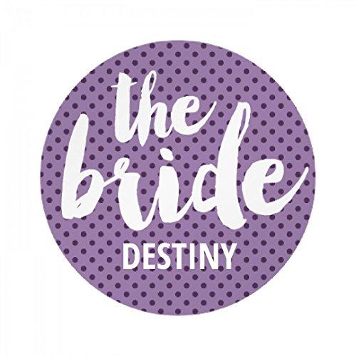 Bridal Party The Bride Destiny: All Over Print Round Plastic Button & (Destiny Bride Bridal Shops)