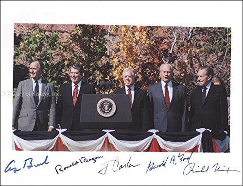 The Five Presidents Photograph Signed with co signers