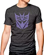 Transformers Decepticon Logo Adult Heather Gray T-Shirt