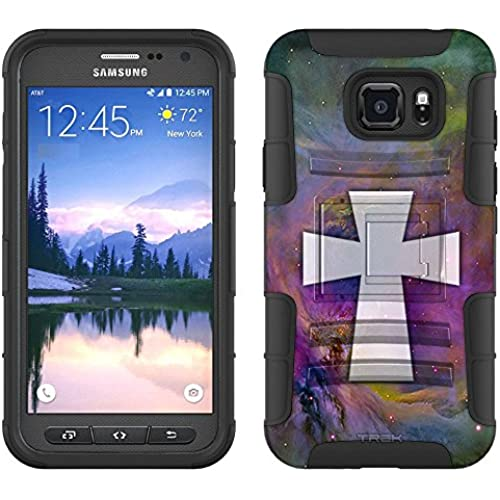 Samsung Galaxy S7 Active Armor Hybrid Case Maltese Cross on Nebula Multicolor 2 Piece Case with Holster for Samsung Sales