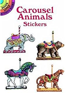 Carousel Animals Stickers Dover Little Activity Books