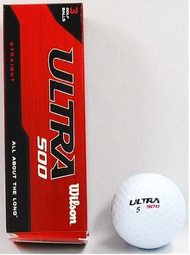 Wilson Ultra 500 Straight Golf Ball (15-Pack), White