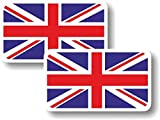 union jack helmet - Vinyl sticker/decal Small 70mm Union Jack flag - pair