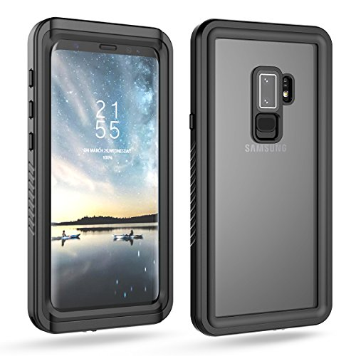 Galaxy S9 Plus Waterproof Case, FugouSell Full Sealed IP68 Snowproof Dustproof Shockproof Heavy Duty Protection Underwater Case with Screen Protector / Touch ID for Samsung Galaxy S9 Plus – Black