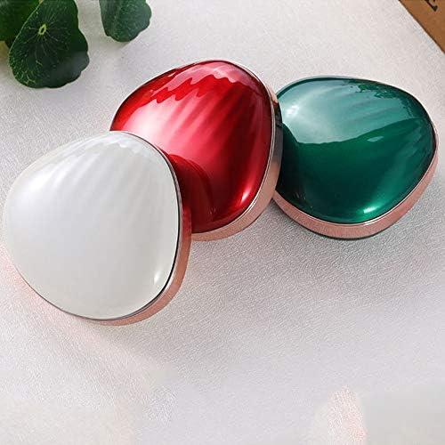 よく作られたLEDソフトアイメイクアップミラー多機能フィルライトトレジャーメイクアップミラービューティーミラーABSアルミニウム3レッドブルーホワイト 可愛い (Color : White)