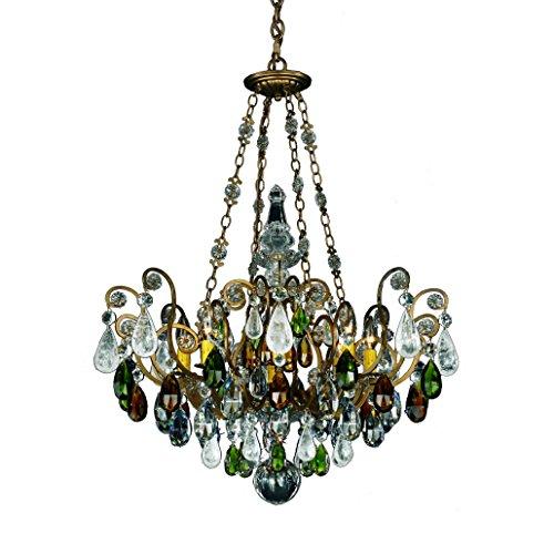 - Schonbek 3587-23OS Swarovski Lighting Renaissance Rock Crystal Chandelier, Etruscan Gold
