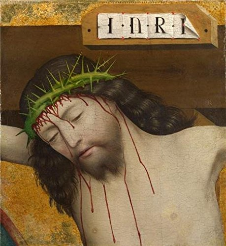 [The Perfect Effect Canvas Of Oil Painting 'Master Of Liesborn-Head Of Christ Crucified,1470-80' ,size: 8x9 Inch / 20x22 Cm ,this Beautiful Art Decorative Canvas Prints Is Fit For Home Office Artwork And Home Gallery Art And] (Cabbage Head Costume)