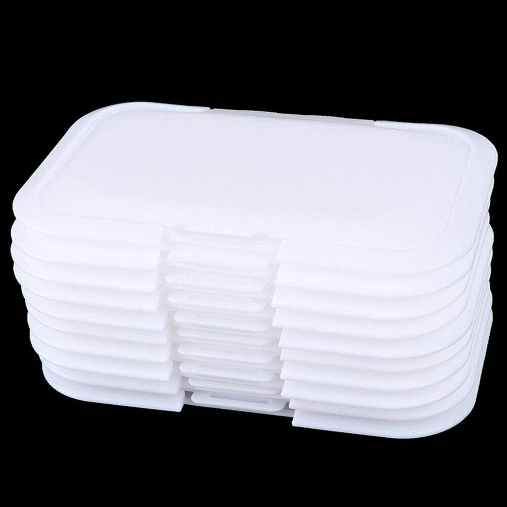 Moligh doll 10Pcs Reusable Baby Wipes Lid Baby Wet Wipes Cover Tissues Box Wet Paper Lid