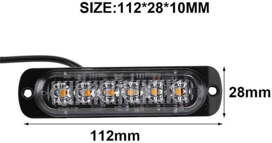 Kylewo LED k/ühlergrill Beleuchtung,Frontblitzer Warnleuchte Stra/ßenr/äumer Rundumleuchte Blinkleuchte DC 12V-24V 18W,Blitzer Leuchte Stroboskop Warnlicht