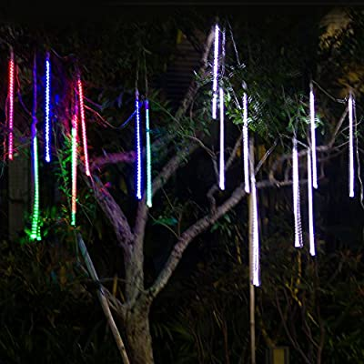 Solar Outdoor String Lights,MAXINDA 240 LED Meteor Tube Waterproof Fairy String Lights for Garden,Patio,Yard,Christmas Trees and Other Outdoor Activities