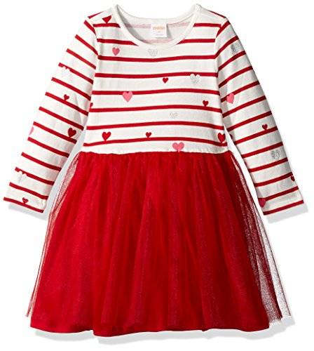 Gymboree Toddler Girls' Striped Heart Dress with Tutu, Multi, 5T