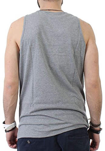 Mitchell & Ness Black and White Logo Tank Men BROOKLYN NETS Grey