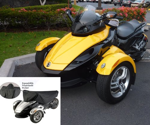 Trike Cover Dust - Can-Am Spyder Sports ST-S Half Cover - Keep Your Seat and Valuable Instruments Cool, Dry and Free from Dust