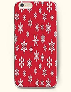 SevenArc Authentic Cases for iPhone 6 Plus (5.5inch) - Hard Back Plastic Case /Merry Christmas Xmas/ Red White All...