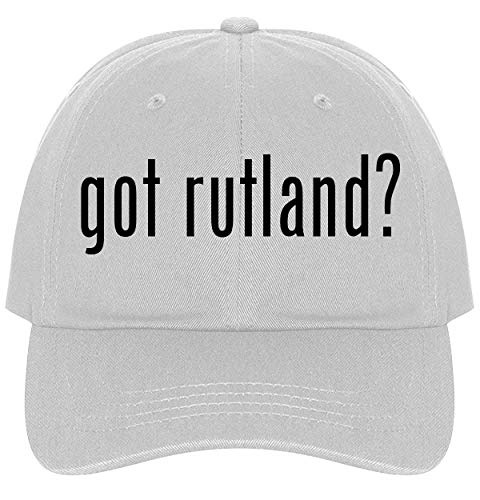 The Town Butler got Rutland? - A Nice Comfortable Adjustable Dad Hat Cap, White