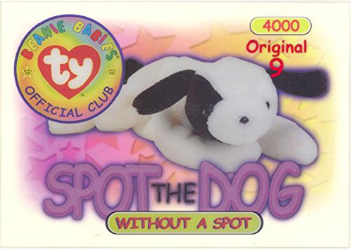 (TY Beanie Babies BBOC Card - Series 1 Original 9 (RED) - SPOT the Dog (without spot) )